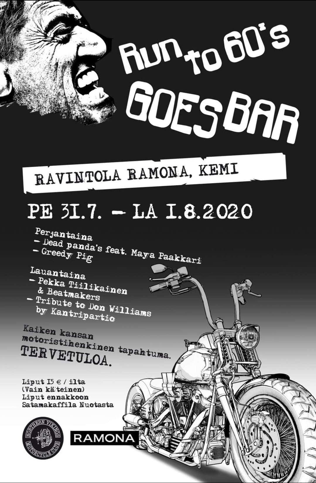 Run To 60's goes bar 2020